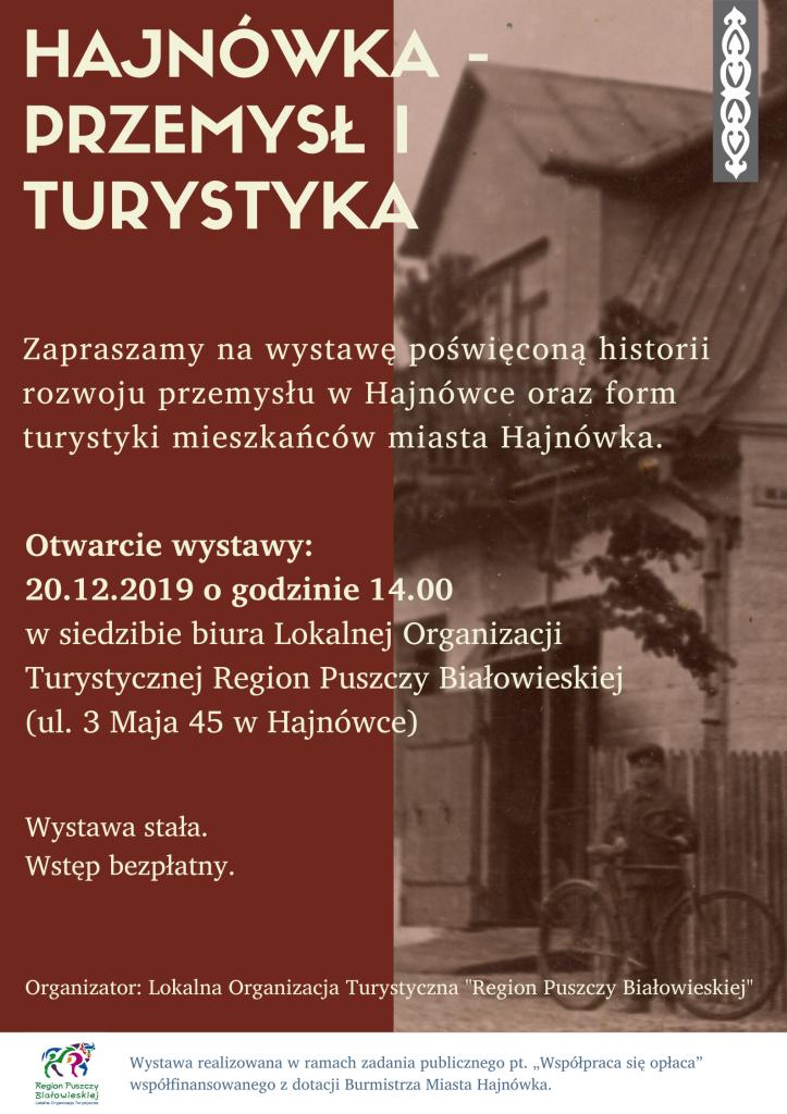 Wystawa Historia Hajnówki - przemysł i turystyka