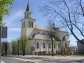 5.Kościół p.w. Podwyższenia Krzyża Świętego - we wnętrzu unikatowe organy z przełomu XIX/XX w.